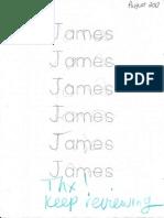 James Name Practice