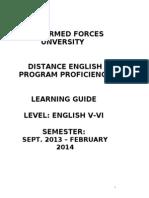 Study Guide English v-Vi