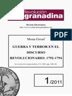 Guerra y Terror en El Discurso Revolucionario 1792-1794 Mona Ozouf