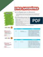 Registro Descriptivo y Anecdotica