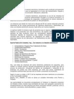 Hoy en día el sector de la industria electrónica colombiana está constituido principalmente por empresas pequeñas que se especializan en el ramo del mantenimiento