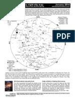 January 2014 night sky chart