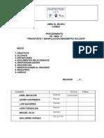 Procedimiento  Transporte y Manipulación densimetro Nuclear