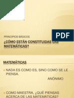 CÓMO ESTÁN CONSTITUIDAS LAS MATEMÁTICAS
