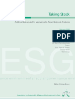 Taking Stock — Adding Sustainability Variables to Asian Sectoral Analysis (February 2006)