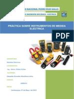 PRÁCTICA SOBRE INSTRUMENTOS DE MEDIDA