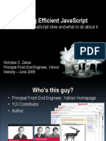 Writing Efficient JavaScript