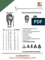 Turbine Vent Dimensions