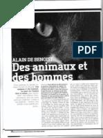 Alain de Benoist - Des Animaux Et Des Hommes