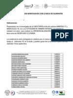 Lista de ALIMENTOS Ago2013
