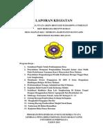 LAPORAN KKN Desa Mainan Kec.sembawa Kab.banyuasin Sumatera Selatan 2013
