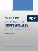 Tabla Honorarios Profesionales