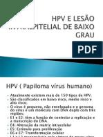 HPV E LESÃO INTRAEPITELIAL DE BAIXO GRAU