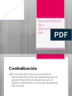 Centralización, Descentralización y desconcentración