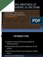 Standerdization of Ayurvedic Drugs by Gurmeet Singh