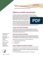 Rheumatoid Artritis Ff Espanol 4pp