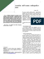 Arcangelo PANZICA - Tecnologie e Tecniche Dell'Esame Radiografico Nel Paziente a Letto