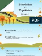 Behaviorism vs Cognitivism