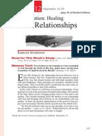 3rd Quarter 2013 Lesson 12 Reformation Healing Broken Relationships