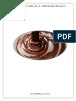 ANÁLISIS DEL TIEMPO DE FUNDICION DEL CHOCOLATE con articulo