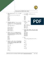 Matematika Dasar SNMPTN 2008