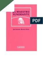 Maestro Ignorante Jacques Ranciere