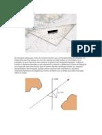 instrumentacion naval Triángulo graduado