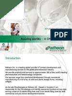 Assuring sterility – A CMOs approach