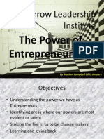 The Power of Entrepreneurship
