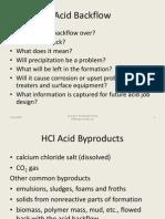 Acid Backflow