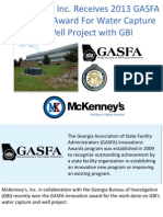 McKenney's, Inc. Receives 2013 GASFA Innovation Award For Water Capture and Well Project with GBI