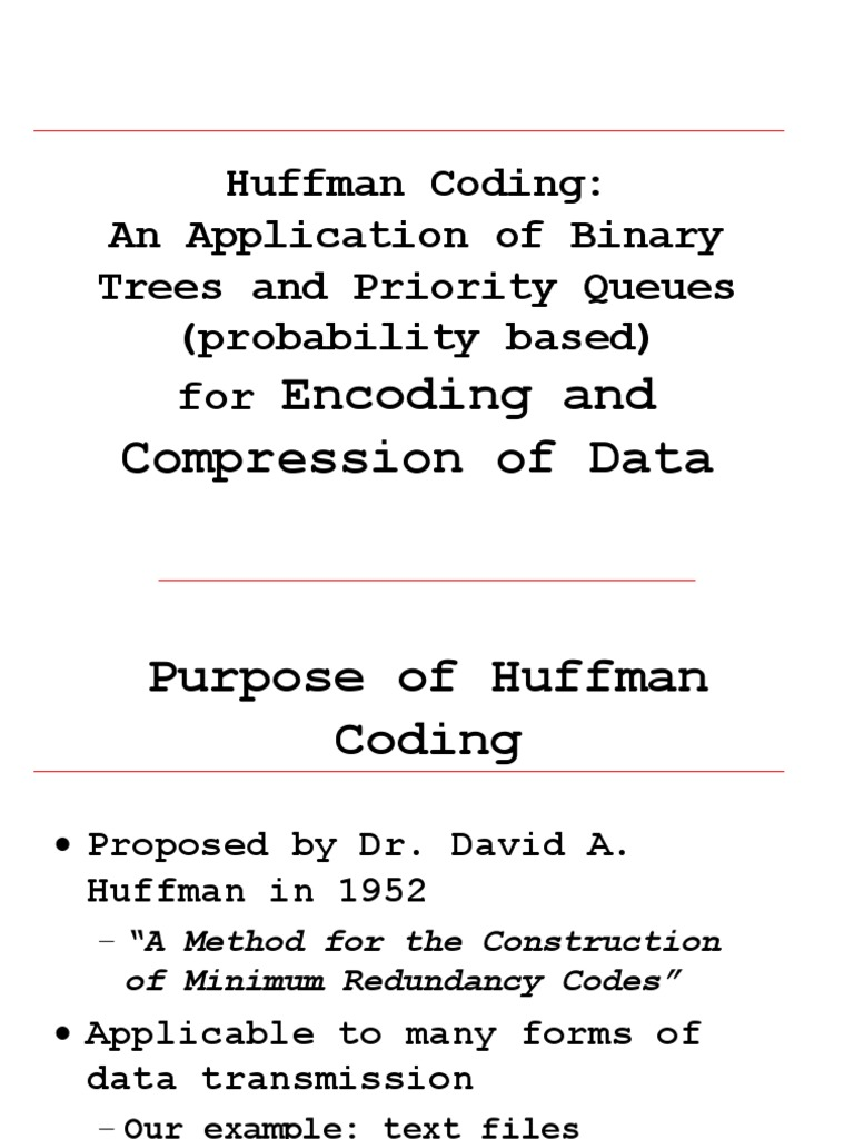 Huffman   Code   String (Computer Science)