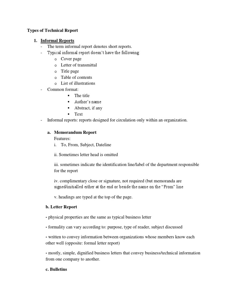 Types of technical report statistics feasibility study spiritdancerdesigns Gallery