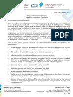 Guideline No. en - 001 Air Environment