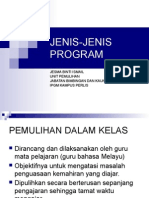 Jenis Jenis Program(Pemulihan)