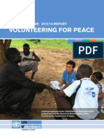 HRD (Human Resource Development) Programme 2012/13 Report VOLUNTEERING FOR PEACE