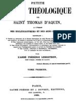 Petite Somme Theologique de Saint Thomas d Aquin (Tome 1)