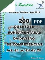 1722_DA DIVISÃO DE COMPETÊNCIAS - Art. 21 ao 24 da CF - apostila amostra