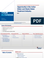 Opportunity in the Indian Water and Waste Water Treatment Industry_Feedback OTS_2013