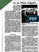 A Morte de Plinio Salgado - 1975