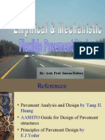 Empirical and Mechanistic Flexible Design of Pavements