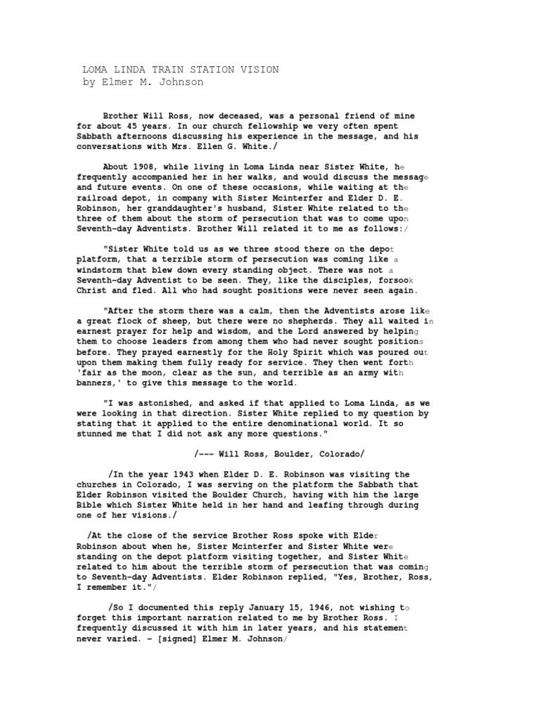 Loma Lind | Seventh Day Adventist Church | Adventism
