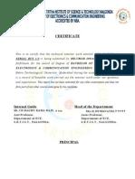 2. Certificate