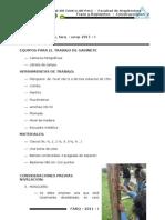 Trazo y Replanteo Informe 01 CONSTRUC 2