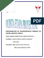 (Programa Proyectual) Parque Tematico