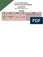 Exam Schedulek