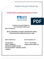 International and Domestic Trading of Steel