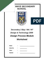 Sec 2 Design Process Module Wksht 2009 (Sem2)