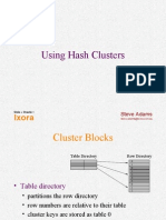 Adams - Hash Clusters Oracle
