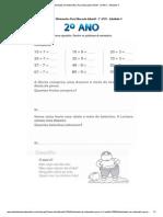 Atividades de Matematica Para Educação Infantil - 2º ANO - Atividade 4